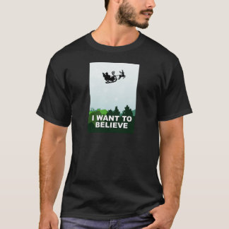i want ton believe christmas, x-files alien UFO T-Shirt