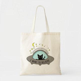 I want ton believe tote bag