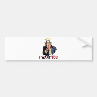 I want you, America US/USA, SAD Bumper Stickers