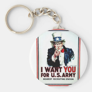 I Want You Flag Keychain