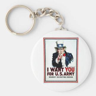 I Want You Flag Key Chain