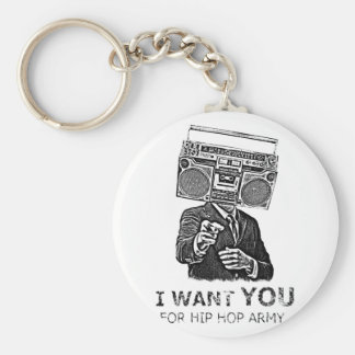 I want you for hip-hop army basic round button keychain