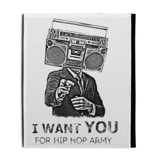 I want you for hip-hop army iPad folio cover