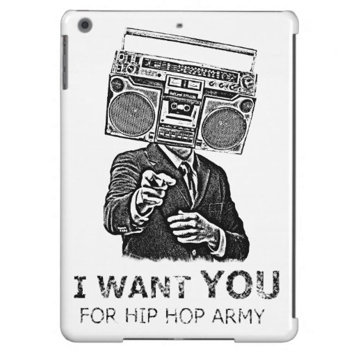 I want you for hip-hop army iPad air cases