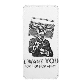 I want you for hip-hop army iPhone pouch