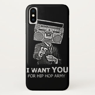 I want you for hip-hop army iPhone x case