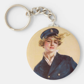 I want you for the Navy Basic Round Button Keychain