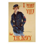 I want you for the Navy Posters