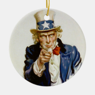 I Want You for U.S. Army by James Montgomery Flagg Ceramic Ornament