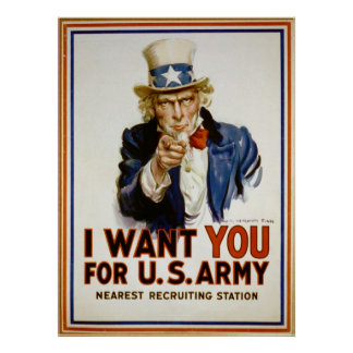 I Want You for U.S. Army by James Montgomery Flagg Print