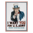 I want YOU! for United States Army Poster