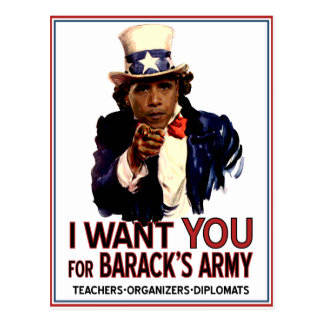 I Want You - Obama Political Postcard