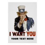 """""""i want you"""" personalized poster"""