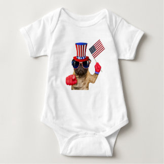 I want you ,pug ,uncle sam dog, baby bodysuit