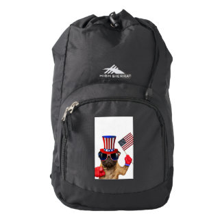 I want you ,pug ,uncle sam dog, backpack