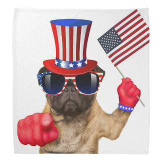 I want you ,pug ,uncle sam dog, bandana