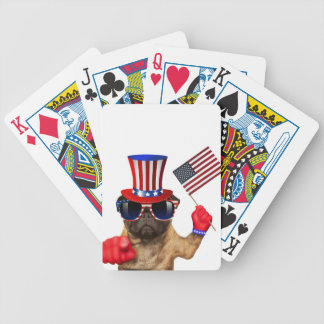 I want you ,pug ,uncle sam dog, bicycle playing cards