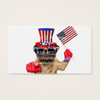 I want you ,pug ,uncle sam dog, business card