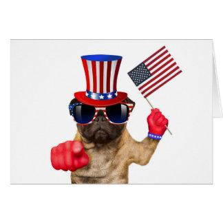 I want you ,pug ,uncle sam dog, card