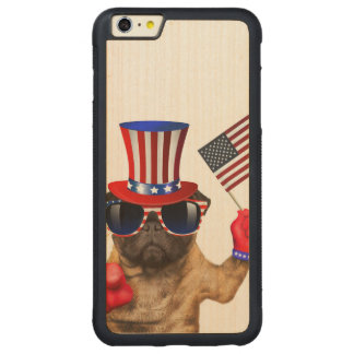 I want you ,pug ,uncle sam dog, carved® maple iPhone 6 plus bumper case