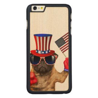 I want you ,pug ,uncle sam dog, carved maple iPhone 6 plus case