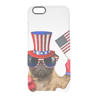 I want you ,pug ,uncle sam dog, clear iPhone 6/6S case