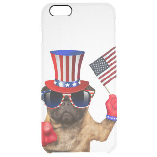 I want you ,pug ,uncle sam dog, clear iPhone 6 plus case