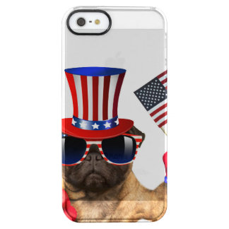 I want you ,pug ,uncle sam dog, clear iPhone SE/5/5s case