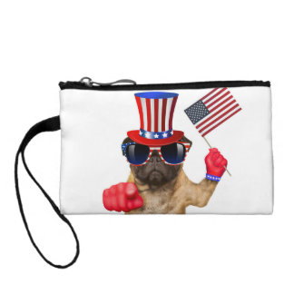 I want you ,pug ,uncle sam dog, coin purse