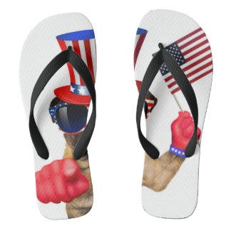 I want you ,pug ,uncle sam dog, flip flops