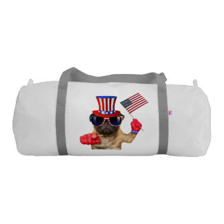 I want you ,pug ,uncle sam dog, gym bag