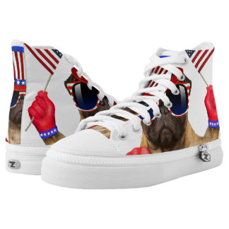I want you ,pug ,uncle sam dog, high tops