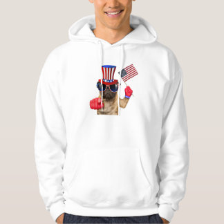 I want you ,pug ,uncle sam dog, hoodie