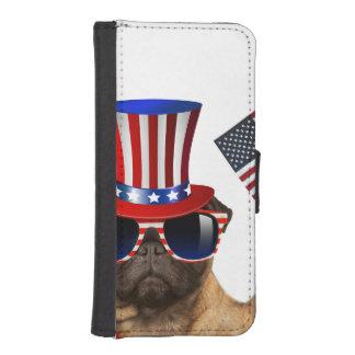 I want you ,pug ,uncle sam dog, iPhone SE/5/5s wallet case