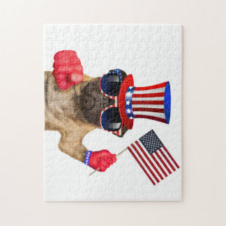 I want you ,pug ,uncle sam dog, jigsaw puzzle