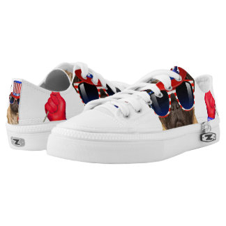 I want you ,pug ,uncle sam dog, Low-Top sneakers