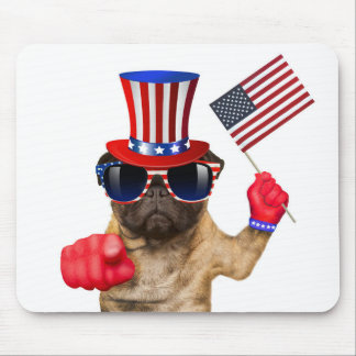 I want you ,pug ,uncle sam dog, mouse pad