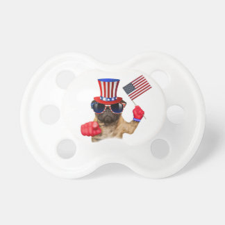 I want you ,pug ,uncle sam dog, pacifier