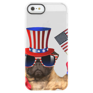 I want you ,pug ,uncle sam dog, permafrost® iPhone SE/5/5s case
