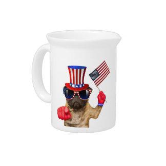 I want you ,pug ,uncle sam dog, pitcher