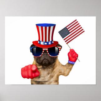 I want you ,pug ,uncle sam dog, poster