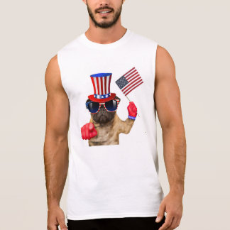 I want you ,pug ,uncle sam dog, sleeveless shirt