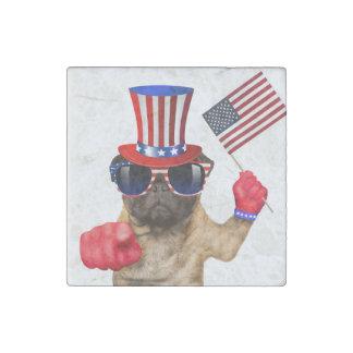 I want you ,pug ,uncle sam dog, stone magnets
