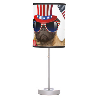 I want you ,pug ,uncle sam dog, table lamp