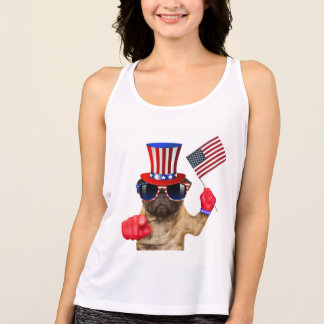 I want you ,pug ,uncle sam dog, tank top