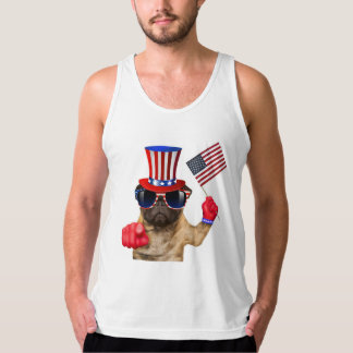 I want you ,pug ,uncle sam dog, tank top