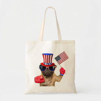 I want you ,pug ,uncle sam dog, tote bag
