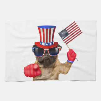 I want you ,pug ,uncle sam dog, towel