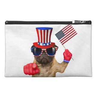 I want you ,pug ,uncle sam dog, travel accessory bag