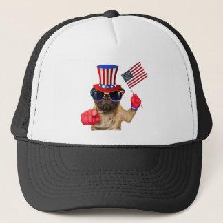 I want you ,pug ,uncle sam dog, trucker hat